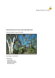 Draft Assessment of Crown Land at Berrygill Creek - NSW Government