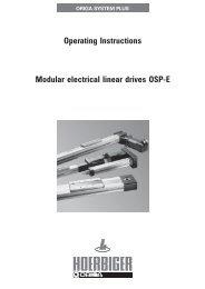 Modular electrical linear drives OSP-E - Normapress