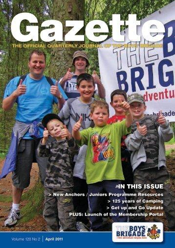 April 2011 - The Boys' Brigade