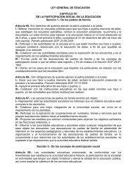 LEY GENERAL DE EDUCACIÓN CAPITULO VII DE ... - Sepdf.gob.mx
