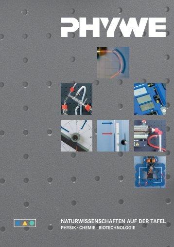 naturwissenschaften auf der tafel - Phywe Systeme GmbH