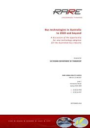 Bus technologies in Australia to 2020 and beyond - Department of ...