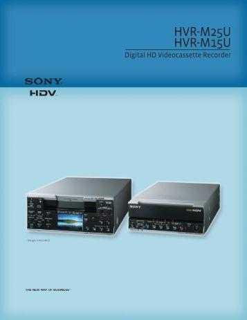 Sony HVR-M25U - VideoCenter