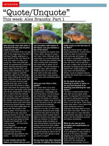 Alex Bransby January 2011.pdf - Chub Fishing