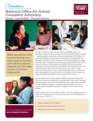 National Office for School Counselor Advocacy - College Board ...