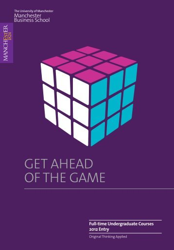 get ahead of the game - contentlibrary - The University of Manchester