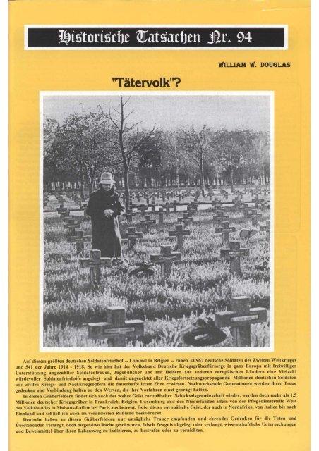 "Historische Tatsachen Nr. 94 - ""Tätervolk""?"