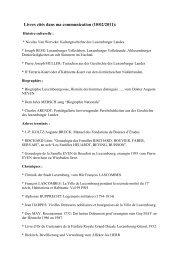 Livres cités dans ma communication (10/02/2011): - luxroots.com
