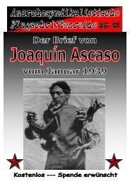 Der Brief von Joaquin Ascaso vom Januar 1939