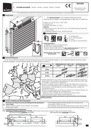 Installationsanleitung - Simu Antriebe