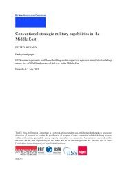 Conventional strategic military capabilities in the Middle East