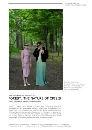 FOREST: THE NATURE OF CRISIS - AugustinPR