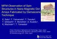 MFM observation of spin structures in nano magnetic dot arrays ...