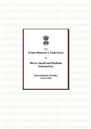 Report Of The Task Force On MSME ...