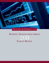 Business Transactions Group 2011 Year in Review - Seward and ...