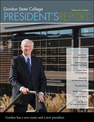 President's Report - Gordon State College