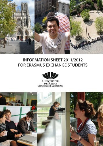 InformatIon sheet 2011/2012 for erasmus exchange students
