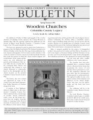 CCHSB Spring 2003 RevA - Columbia County Historical Society