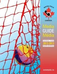 Media Guide Média - Water Polo Canada
