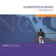 KompetenceudviKling - hvOrdan ? - NCK - Aarhus Universitet