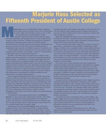 view pdf format - Austin College Magazine