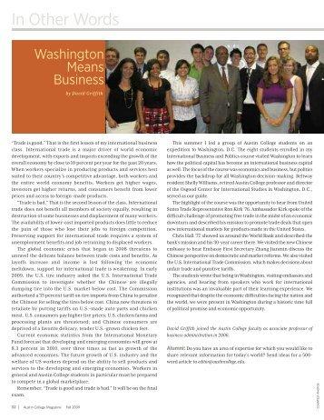In Other Words - Austin College Magazine