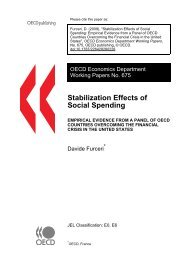 Stabilization Effects of Social Spending: Empirical Evidence from a ...