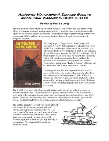 Armoured Wargaming: A Detailed Guide to ... - Lone Warrior Blog