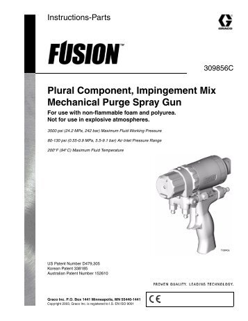 Graco Fusion Mechanical Purge Spray Gun - Custom Linings