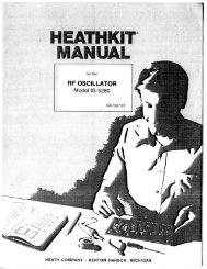 Page 1 Page 2 Heathkit® Manual for the RF OSCILLATCR Model ...