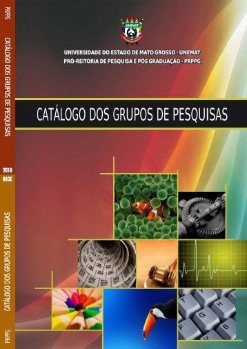 Catálogo dos Grupos de Pesquisas - Unemat