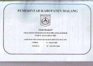 APBD 2009 - Pemerintah Kabupaten Malang