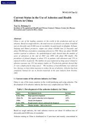 Current Status in the Use of Asbestos and Health Effects in China