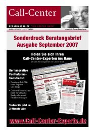Call-Center - Marketing Resultant GmbH