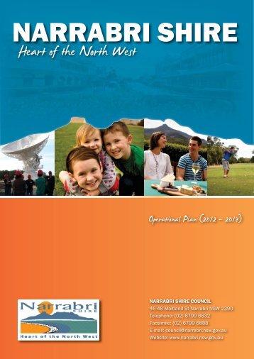 2012/2013 Operational Plan - Narrabri Shire Council