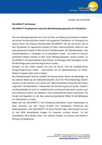 hb Solar Hecklingen - Solarwatt