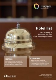 midem 2013 Hotel List
