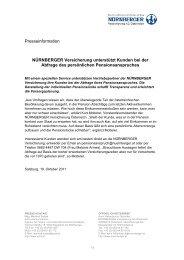 Presseinformation NÜRNBERGER Versicherung unterstützt Kunden ...