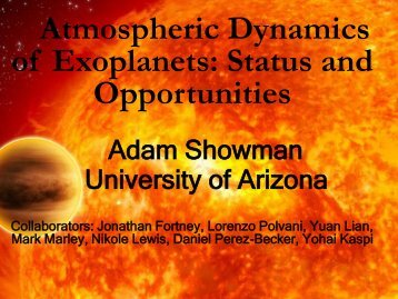 Atmospheric Dynamics of Exoplanets: Status and Opportunities
