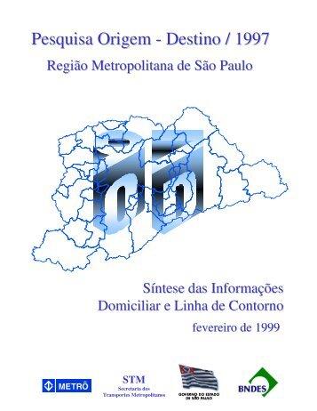 Pesquisa Origem - Destino / 1997 - Metrô