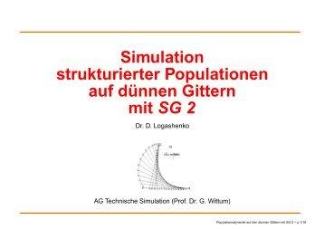 Simulation strukturierter Populationen auf dünnen ... - G-CSC Home