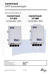 Bedienungsanleitung VarioTrack - Solarbag-Shop
