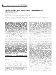Luteolin sensitizes tumor necrosis factor-a-induced apoptosis in ...