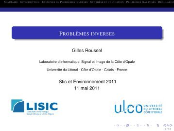 Télécharger le PDF - LISIC - Université du Littoral Côte d'Opale