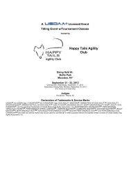 Happy Tails Agility Club - USDAA