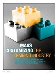 THE TRAINING INDUSTRY MASS CUSTOMIZING - Strategic Horizons