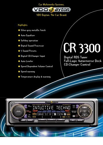 Digital RDS Tuner Full-Logic Autoreverse Deck CD-Changer Control