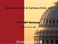 Internal Control & Sarbanes-Oxley Act - Erpanet