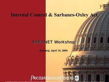 Internal Control & Sarbanes-Oxley Act - Erpanet