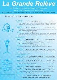 N° 1020 - avril 2002 - Association pour l'Économie Distributive